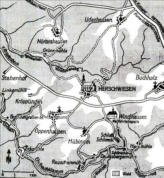 Herschwiesen Karte